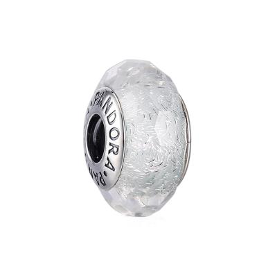 PANDORA潘多拉 浅薄荷色闪烁琉璃 925银琉璃串饰-791656