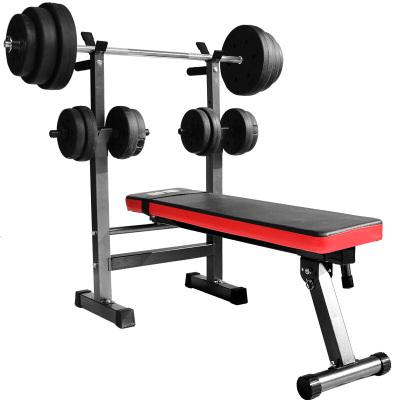 因樂思(YINLESI)家用舉重床臥推架杠鈴架 多功能深蹲臥推凳杠鈴套裝健身器材仰臥板下斜臥推舉重床