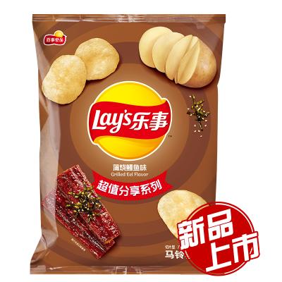 乐事 蒲烧鳗鱼味薯片 135克/包 零食下午茶