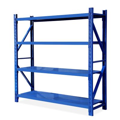 歐寶美貨架倉儲貨架置物架重型庫房多功能展示架鐵架子500KG每層副架四層