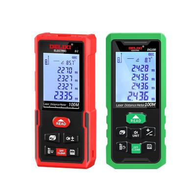 德力西激光測距儀50/60/100/120米紅光綠光鋰電語音測距儀高精度手持充電量房儀電子尺測量儀器