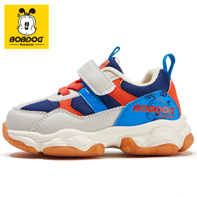 巴布豆BOBDOG HOUSE童鞋秋季新款適3-7歲兒童學步鞋男童女童軟底防滑寶寶鞋9355