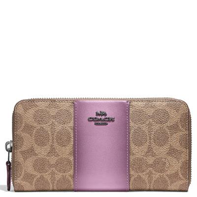 蔻驰(COACH )钱包 时尚女士真皮长款钱包手拿包零钱包F53794/F31546 羊皮质包包
