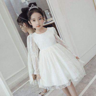 童裝女連衣裙2020新款夏裝小女孩蕾絲裙子春秋公主裙寶寶生日禮服臻依緣
