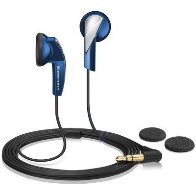【性价比耳机】森海塞尔(Sennheiser) MX365 蓝色 立体声有线耳机 强劲低音 驱动立体声 入耳式耳机