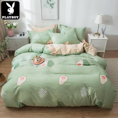 花花公子(PLAYBOY)純棉四件套網紅款學生宿舍床上用品全棉4件套1.5m/1.8m