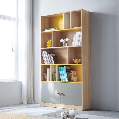林氏木業簡約現代原木色置物書柜客廳書房經濟型儲物收納柜子DJ7X
