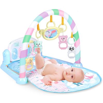 品帥 嬰兒玩具0-1歲 兒童健身架 新生兒玩具寶寶益智早教多功能音樂玩具男女孩禮物 藍色