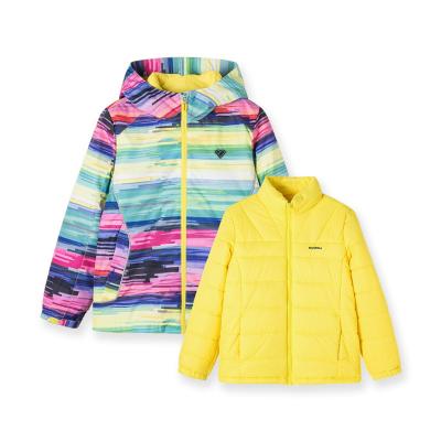 巴拉巴拉女童棉服兒童棉衣童裝新款冬裝女大童三合一外套加厚