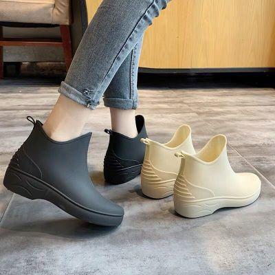 雨鞋女士成人韓版時尚短筒水靴學生低幫夏季防滑水鞋雨靴膠鞋威珺