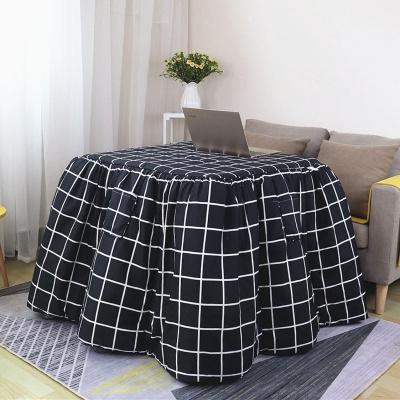 新款加厚烤火被烤火罩烤火架被长方形茶几电暖桌被罩套取暖桌被罩弧威