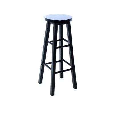 家用現代簡約休閑區高凳子藤印象實木吧臺椅酒吧椅高腳凳簡約奶茶店高椅子