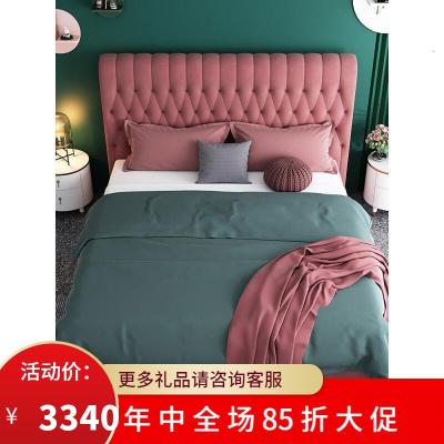 渝州 芝華士 品質北歐輕奢布藝床現代簡約床軟床網紅雙人床1.5/1.8米軟靠主臥床