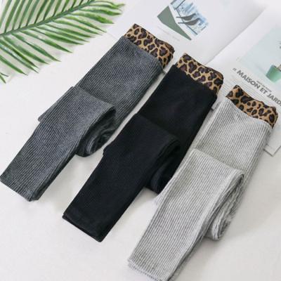 女童打底裤秋冬季加绒加厚款中大儿童韩版女孩修身外穿洋气保暖裤凝骢