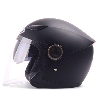 野馬YEMA619-1冬季電動車頭盔女四季通用男士電動摩托車安全帽半覆式雙鏡片防霧619-1
