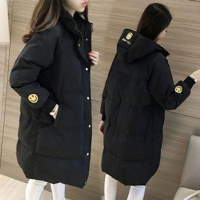 CARWIN KLOIN 2019冬季棉襖棉衣女中長款面包服韓版學生寬松加厚冬天棉服外套女