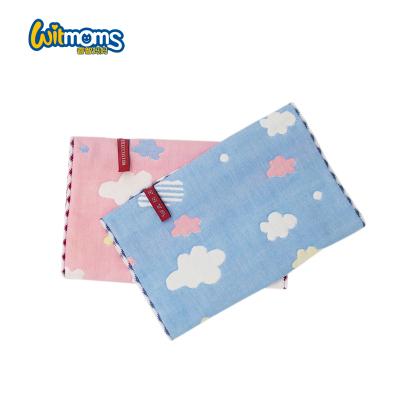 睿智媽媽(witmoms)4條裝孕嬰童毛巾小面巾吸汗巾童巾紗布卡通舒適透氣快速吸水25*50