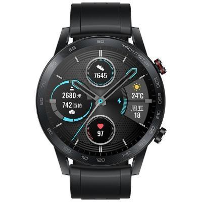 【新品】華為/榮耀手表2 46mm 碳石黑(智能運動戶外手表 兩周續航 藍牙通話血氧檢測心臟健康監測)MagicWatch2