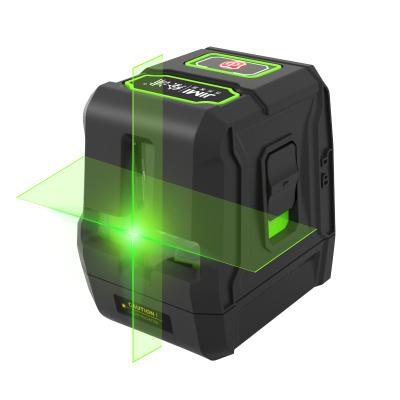 吉米家居 JM-G25092G 2線綠光水平儀激光紅外線投線儀高精度超強打線儀電子激光尺二線
