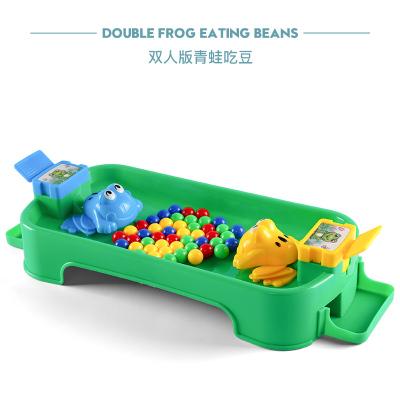 欧塞奇(osage)抖音同款贪吃青蛙吃豆玩具儿童趣味娱乐桌面游戏 亲子互动3-6岁动手动脑早教玩具 双人版绿色+24颗豆