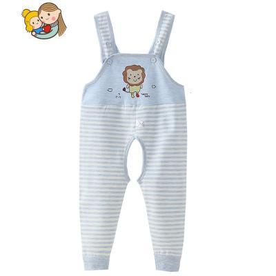 男女寶寶背帶褲開襠嬰兒背帶秋褲 兒童長褲子連體護肚褲春秋