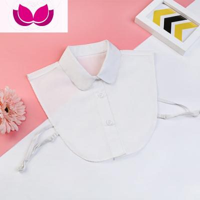 七斕男童女寶寶假領子百搭純棉毛衣裝飾領兒童假領假襯衣領白色假衣領
