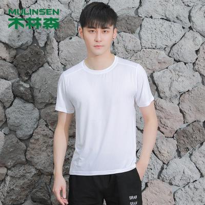 木林森(MULINSEN)夏季情侶款運動T恤跑步健身衣速干T恤