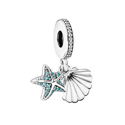 PANDORA潘多拉 热带海星和贝壳925银串饰-792076CZF