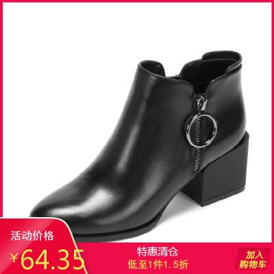 2018秋冬韓版高跟靴女韓版短靴女靴馬丁靴1017605015