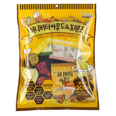 湯姆農場摯友款蜂蜜黃油扁桃仁腰果混合堅果零食大禮包10g*20袋整包年貨零食