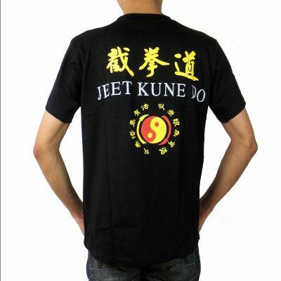 (YKZS)新款截拳道运动T恤衫 圆领短袖黑色武术衣服训练服装定做男女儿童