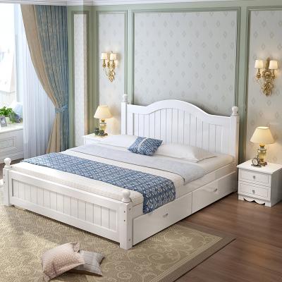 鑫环境实木床现代简约主卧双人床1.8单人1.5米出租房家用经济型