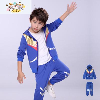 新款秋裝男童裝兒童男孩奧特曼衣服春秋季蜘蛛俠純棉運動套裝
