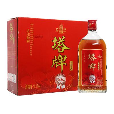 塔牌銀標特型黃酒 10度 500ml*6瓶 箱裝 半干型 手工釀造黃酒