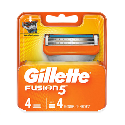 吉列(GILLETTE) FUSION 鋒隱5手動剃須刀 4刀頭替換裝