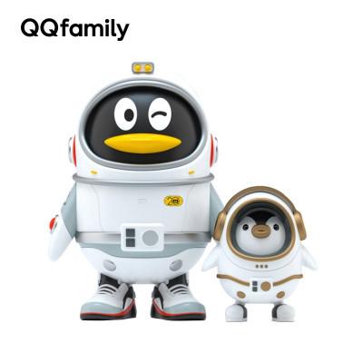 騰訊正版QQfamily手辦系列 QQ20周年太空鵝限量禮盒手辦搪膠公仔收藏生日禮物