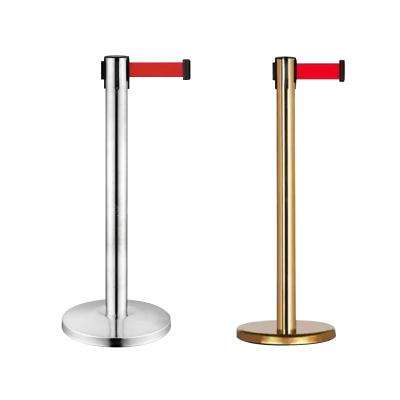 【規格:不銹鋼2米 32*32*90cm】隔離帶 一米線不銹鋼隔離帶 伸縮欄桿座銀行排隊護欄 活動隔離伸縮帶