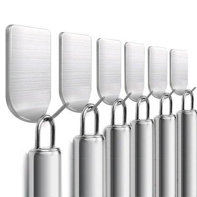 【8個裝】意維斯 廚房掛鉤強力貼粘膠粘鉤不銹鋼墻壁承重免打孔鉤子衛生間壁掛吸盤
