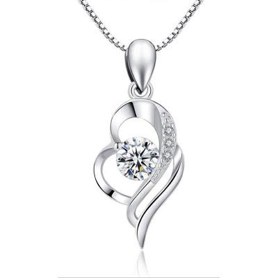 梓珊(FXM)S925純銀銀項鏈時尚飾品銀飾品日韓風格時尚女款鎖骨項鏈精美禮盒免費刻字代寫賀卡女神節情人節送女友禮物項鏈