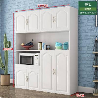 顾致欧式餐边柜现代简约厨房柜美式橱柜储物柜餐厅微波炉碗柜茶水柜子