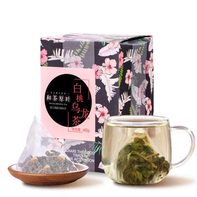 和茶原葉 茶葉 花果茶 白桃烏龍茶 調味茶 三角袋泡茶包 48g