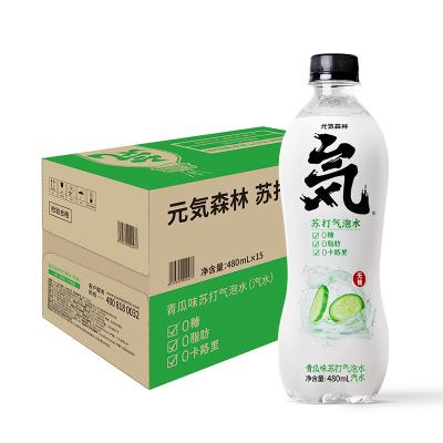 元気森林無糖氣泡水0脂0卡蘇打水元氣水整箱汽水飲料青瓜味 480ml*15瓶