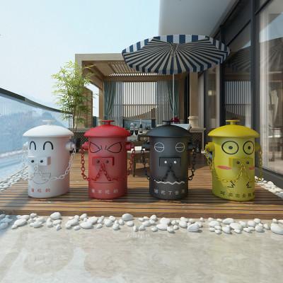 檀星星創意花園幼兒園戶外垃圾桶卡通家用分類干濕大號園林公園庭院子