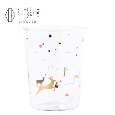 什物計畫 燙金印花玻璃杯 麋鹿的冬季圣誕狂歡(線上)