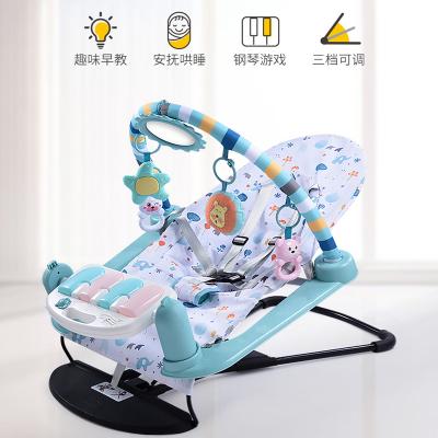腳踏鋼琴嬰兒玩具健身架0-1歲健身器寶寶兒童智扣寶寶健身腳踏鋼琴架-【電池版 郵購盒】三模式合一搖椅健身架+月亮夜燈