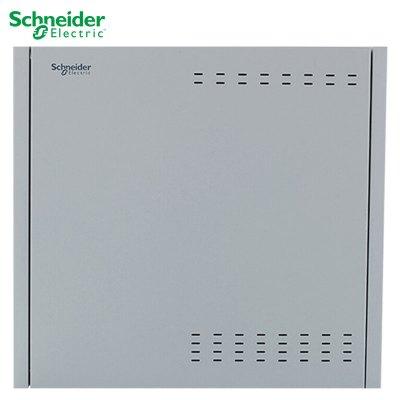 施耐德電氣(Schneider Electric) 配電箱弱電箱 家用 商用 金屬箱體帶箱蓋 弱電布線箱 配電箱 10U