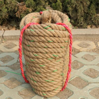 因樂思(YINLESI)麻質拔河繩30米25米20米4cm3cm拔河繩子粗麻繩 拔河比賽用繩