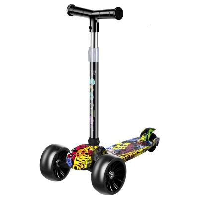 滑板車兒童2-3-6-12歲四輪溜溜車男女孩單腳劃板車滑滑三輪踏板車男孩女孩生日