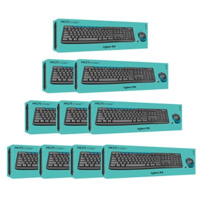 【羅技旗艦店】羅技(Logitech)MK275 無線光電鍵鼠套裝 無線鼠標無線鍵盤套裝 1箱裝 (10套裝)
