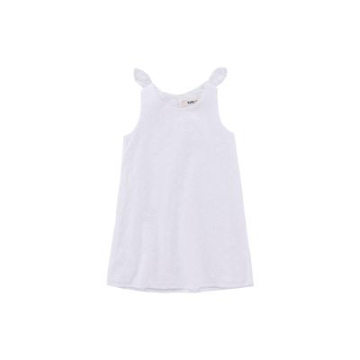 Жижиг улаан буурцагны хүүхдийн хувцас худалдааны төв нь ижил төстэй охидын зуны даавуун ноосон биелэгдэнэ юбка том хүүхдийн хүүхдийн даашинз GXQ640KB3 110cm цагаан